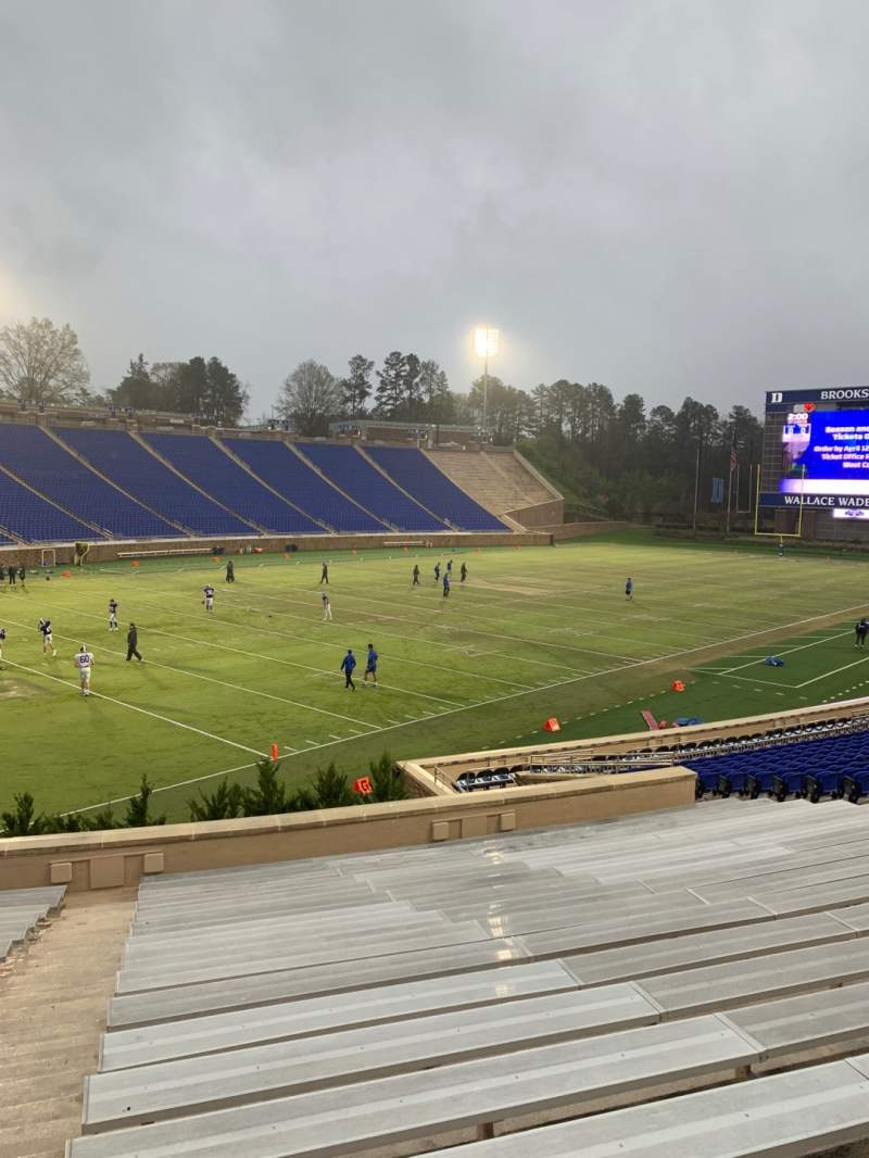 Seating view for Wallace Wade Stadium Section 22 Row R Seat 2