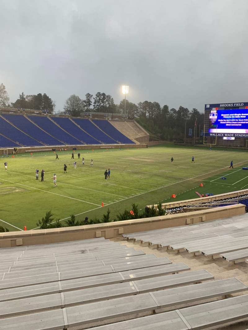 Seating view for Wallace Wade Stadium Section 21 Row Q Seat 13