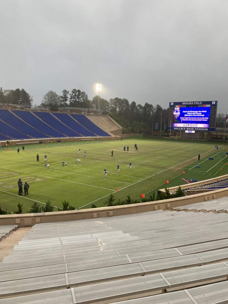 Seating view for Wallace Wade Stadium Section 20 Row U Seat 6