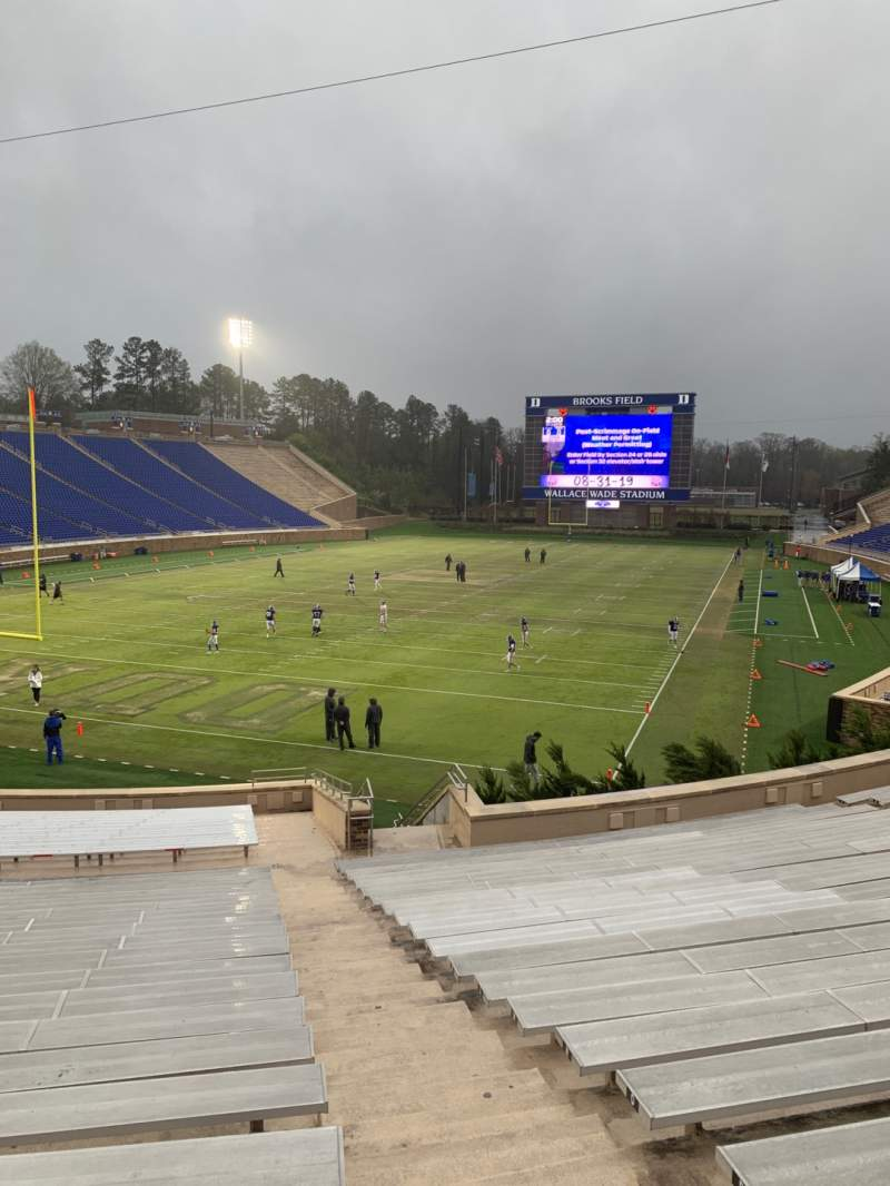 Seating view for Wallace Wade Stadium Section 19 Row T Seat 1