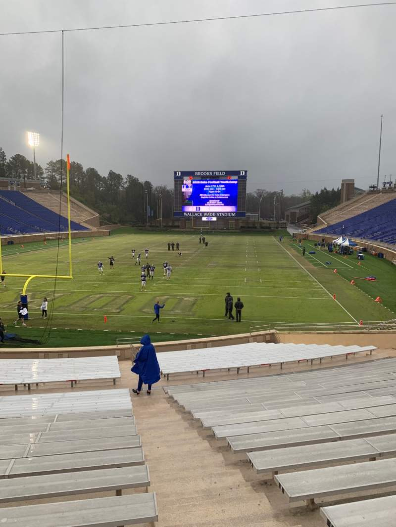 Seating view for Wallace Wade Stadium Section 18 Row P Seat 3
