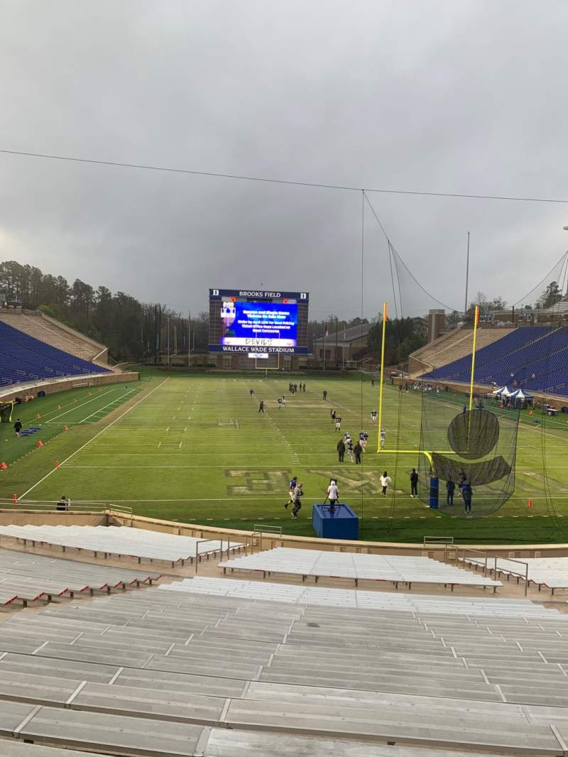 Seating view for Wallace Wade Stadium Section 15 Row V Seat 24