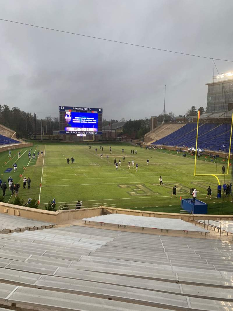 Seating view for Wallace Wade Stadium Section 14 Row T Seat 21