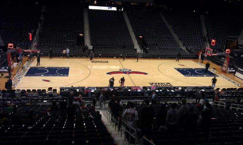 Seating view for Philips Arena Section 212 Row A Seat 7