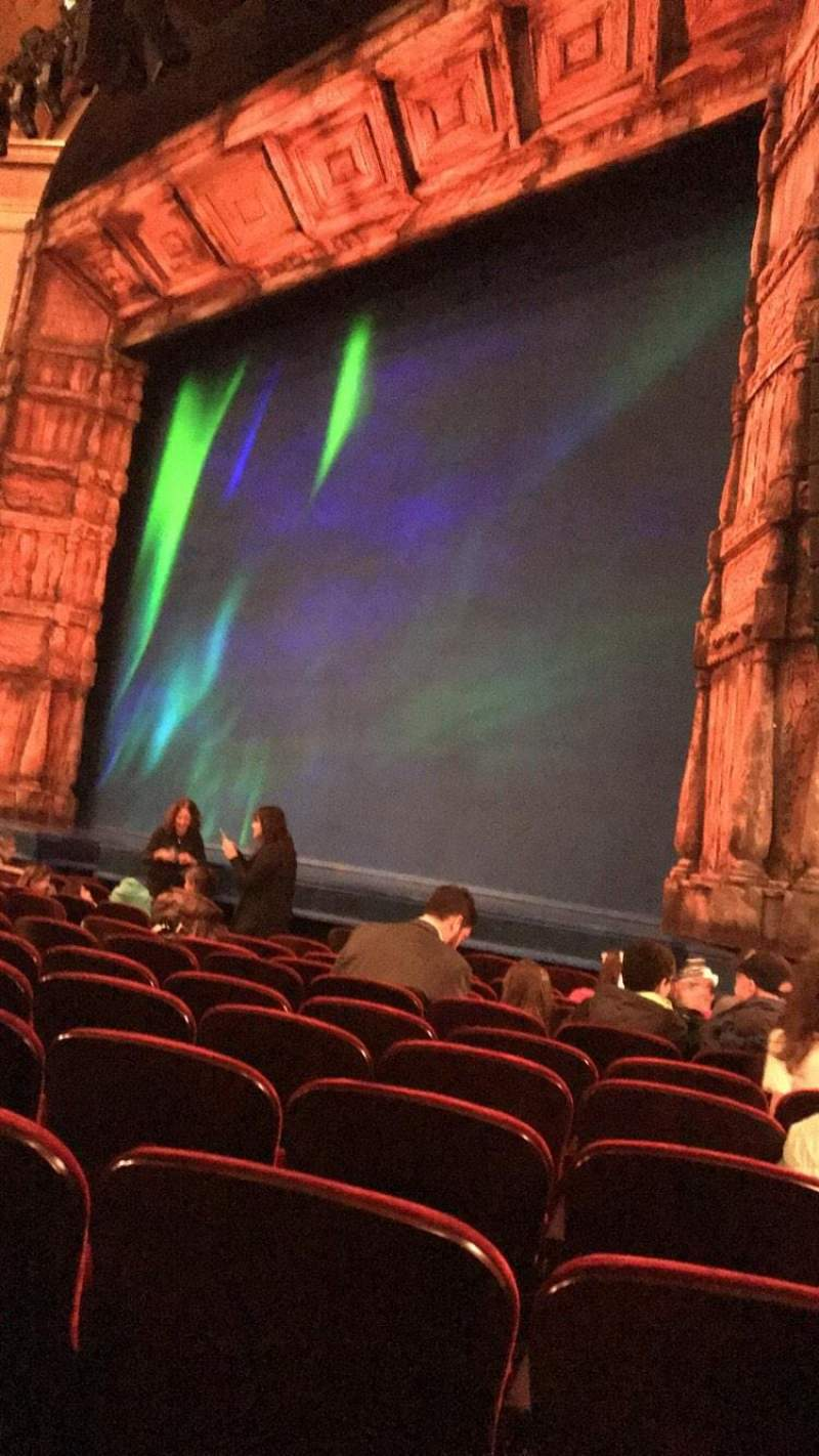 Seating view for St. James Theatre Section Orchestra R Row K Seat 26-28