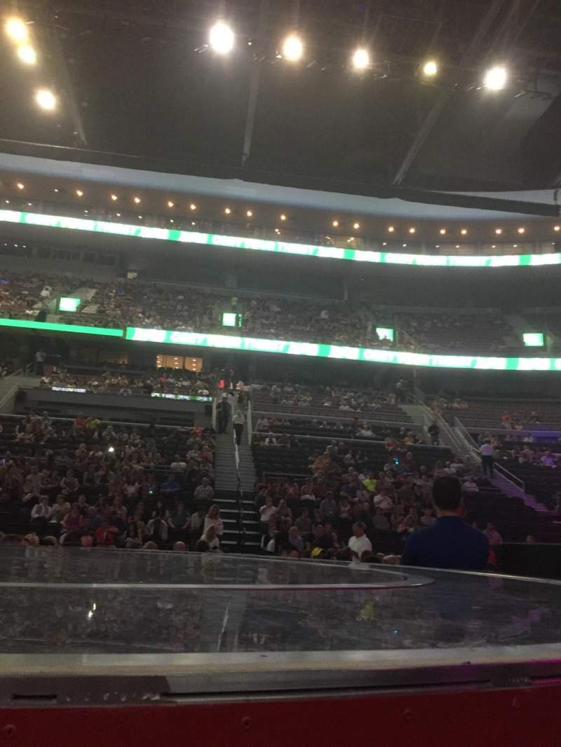 Seating view for The Palace of Auburn Hills Section B Row 10 Seat 1