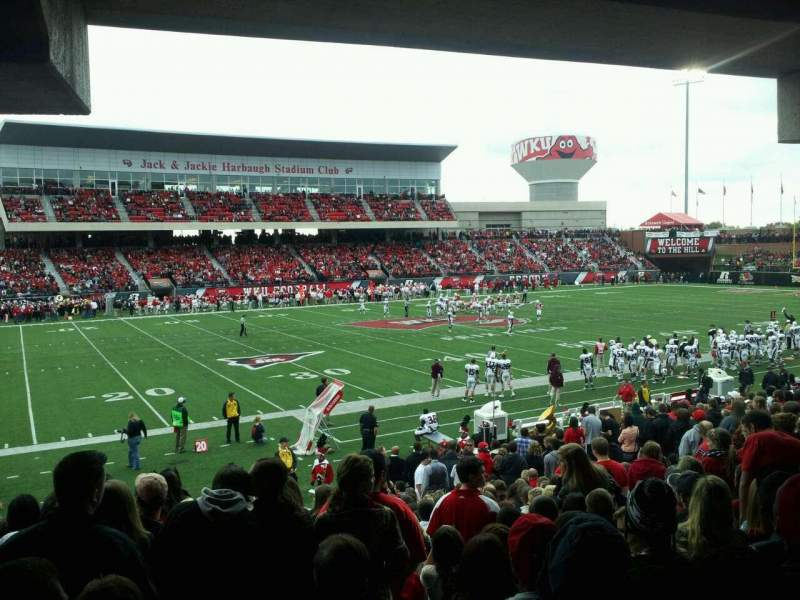 Seating view for L. T. Smith Stadium Section 133 Row 34 Seat 20