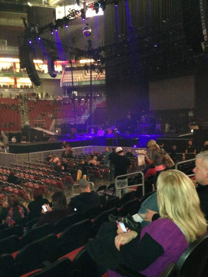 Seating view for KFC Yum! Center Section 106 Row H Seat 9