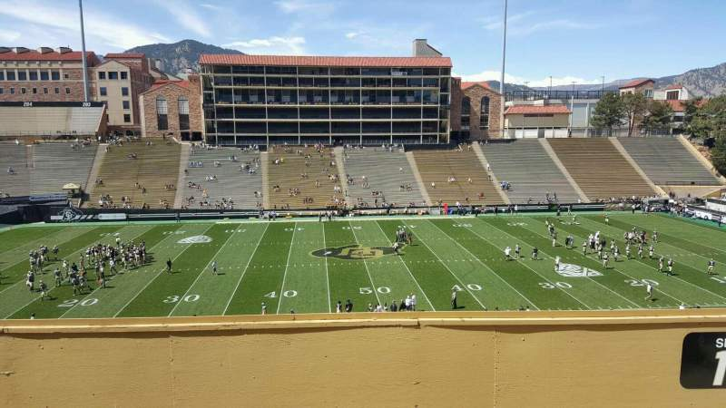 Seating view for Folsom Field Section 218 Row 51 Seat 8