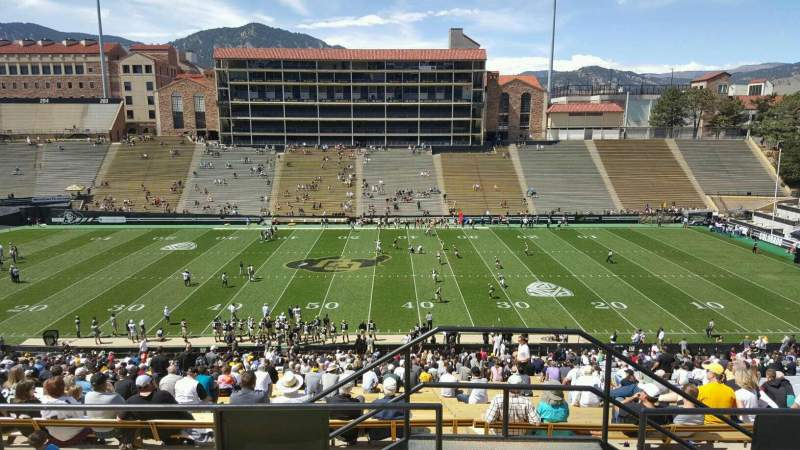 Seating view for Folsom Field Section 218 Row 56 Seat 36