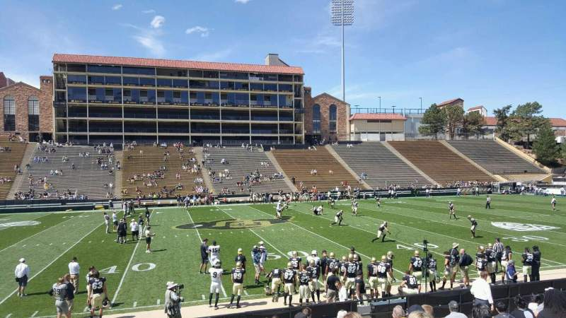 Seating view for Folsom Field Section 117 Row 18 Seat 20