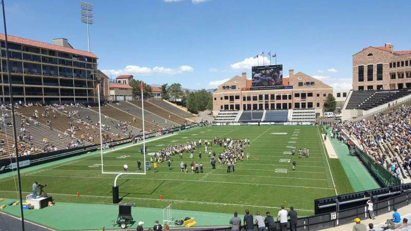 Seating view for Folsom Field Section 112 Row 41 Seat 48