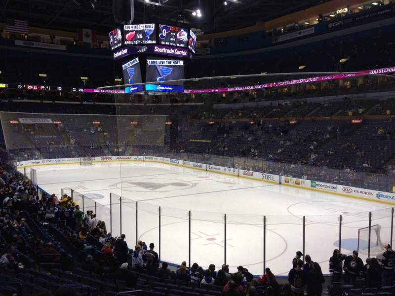 Seating view for Scottrade Center Section 125 Row T Seat 6