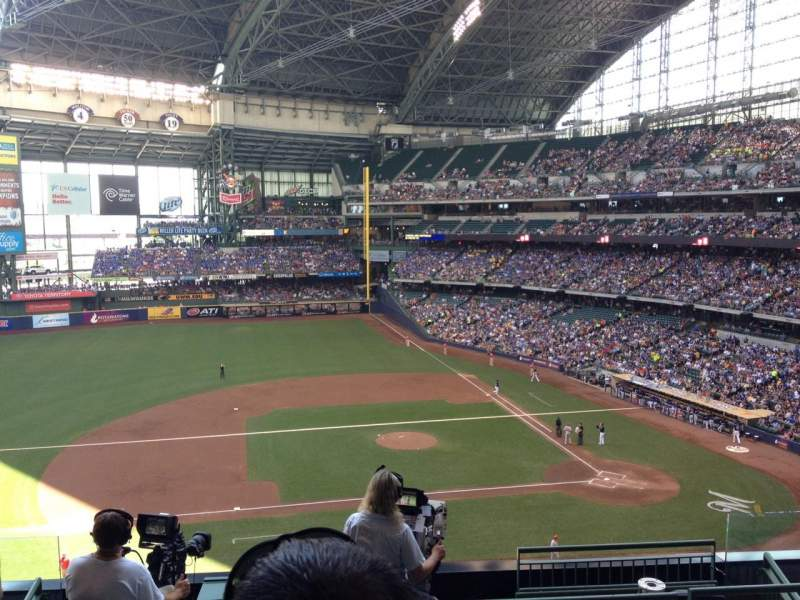 Seating view for Miller Park Section 339 Row 7 Seat 7
