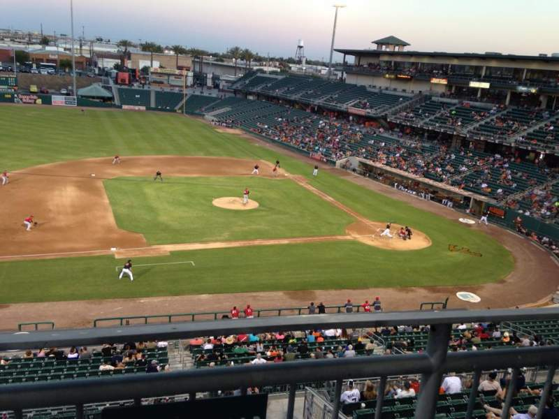 Seating view for Chukchansi Park Section 108 Row 1 Seat 1