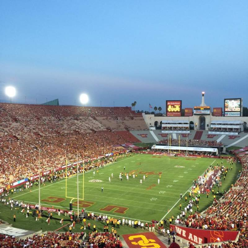 Seating view for Los Angeles Memorial Coliseum Section 13H Row 75 Seat 119