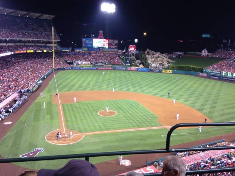 Seating view for Angel Stadium Section V422 Row C Seat 12