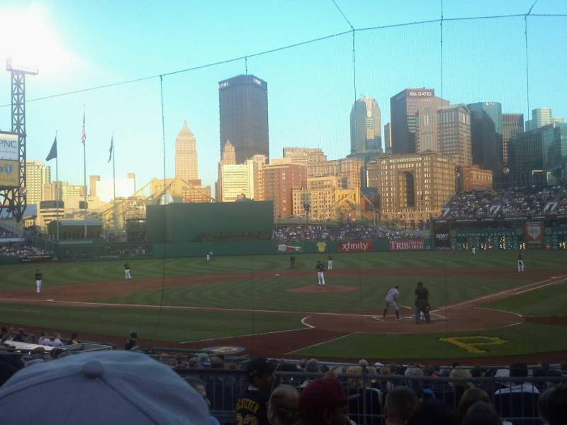 Seating view for PNC Park Section 117 Row g Seat 17