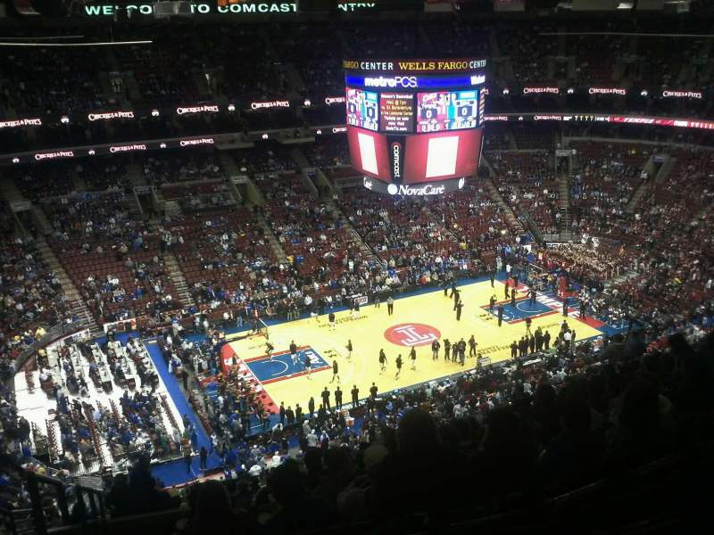 Seating view for Wells Fargo Center Section 223 Row 15 Seat 1