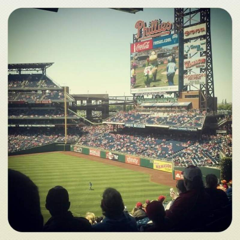 Seating view for Citizens Bank Park Section 202 Row 13 Seat 23