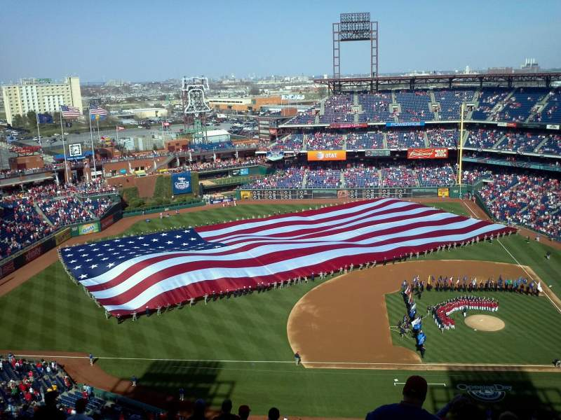 Seating view for Citizens Bank Park Section 427 Row 16 Seat 3