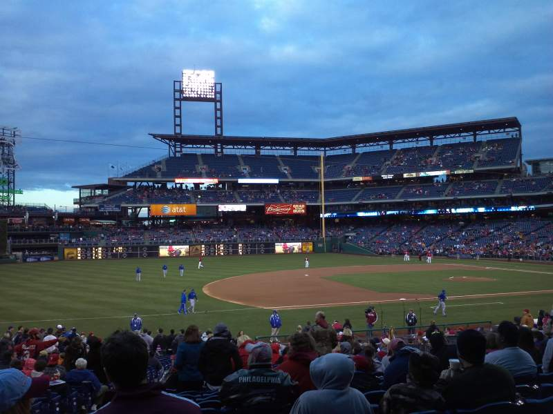 Seating view for Citizens Bank Park Section 133 Row 30 Seat 15
