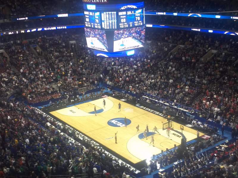 Seating view for Wells Fargo Center Section 217 Row 14 Seat 7