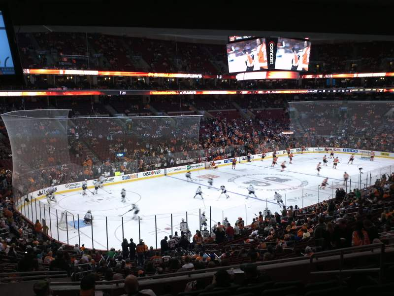 Seating view for Wells Fargo Center Section CB10 Row 3 Seat 2