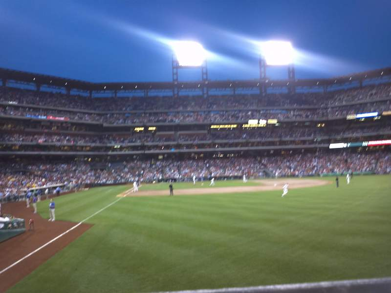 Seating view for Citizens Bank Park Section 106 Row 1 Seat 9