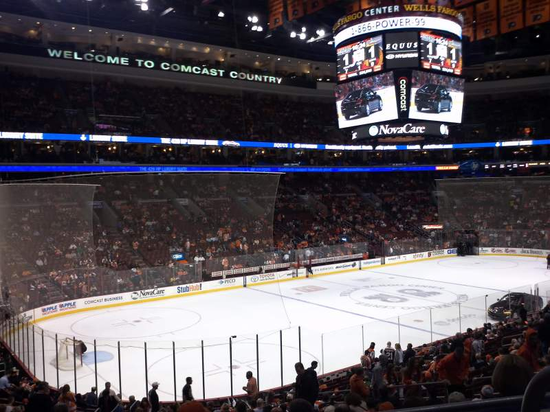 Seating view for Wells Fargo Center Section Club Box 10 Row 3 Seat 10