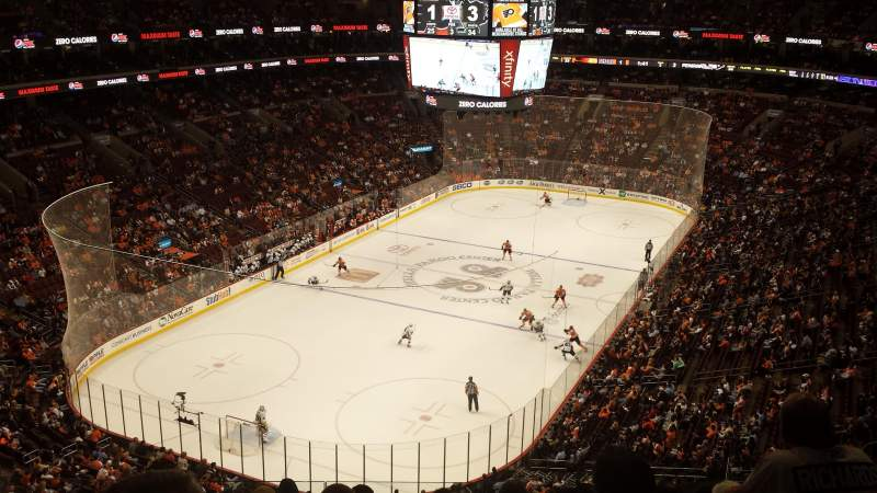 Seating view for Wells Fargo Center Section 209 Row 8 Seat 8