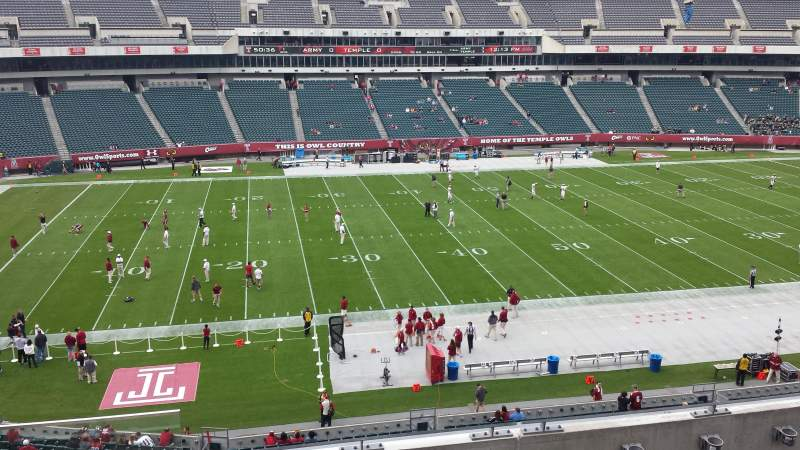 Seating view for Lincoln Financial Field Section C20 Row 4 Seat 22