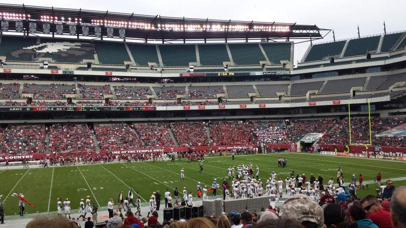 Seating view for Lincoln Financial Field Section 101 Row 25 Seat 8