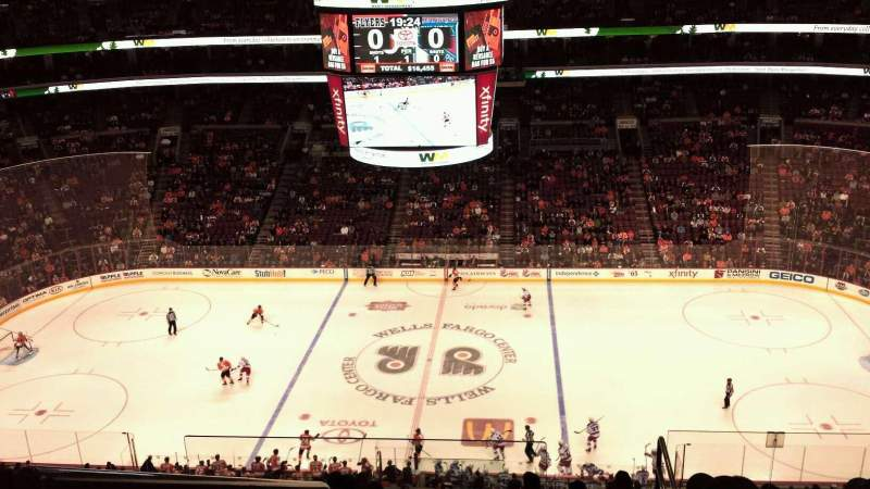Seating view for Wells Fargo Center Section 202 Row 11