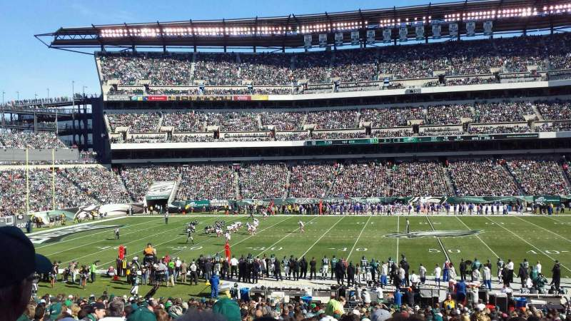 Seating view for Lincoln Financial Field Section 101 Row 31 Seat 17