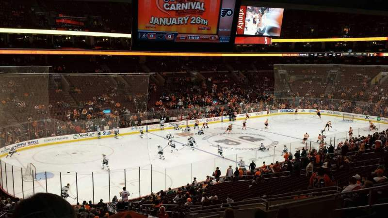 Seating view for Wells Fargo Center Section CB10 Row 3 Seat 10