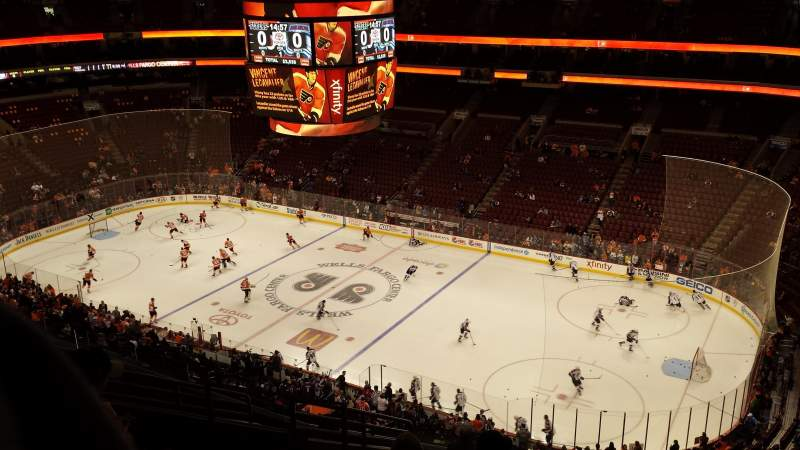 Seating view for Wells Fargo Center Section 204 Row 12 Seat 7