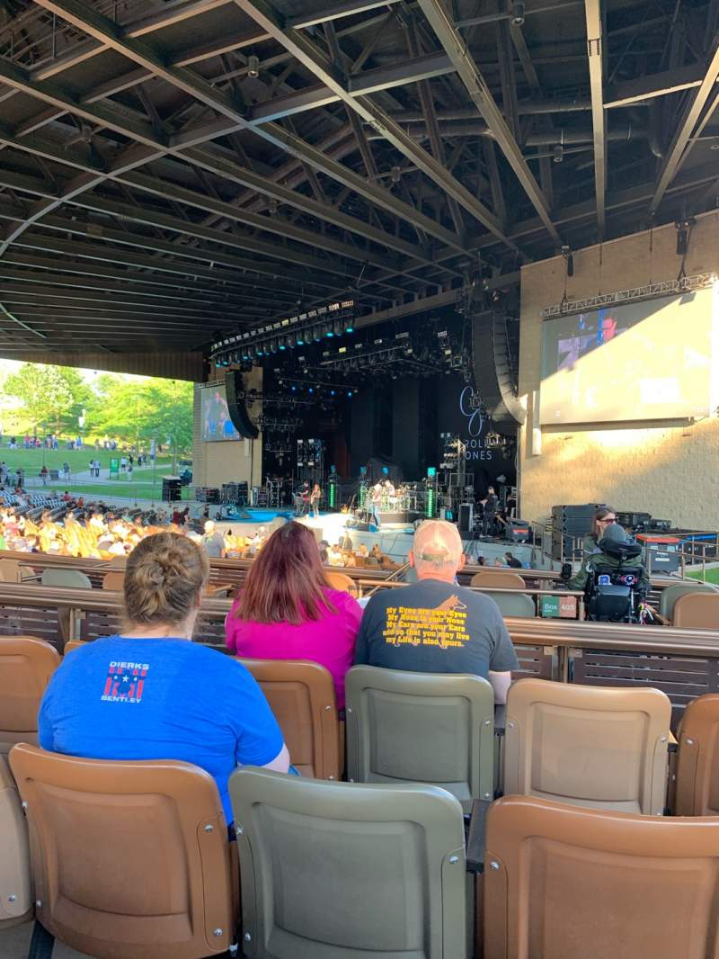 Seating view for Bethel Woods Center for the Arts Section 10 Row D Seat 8