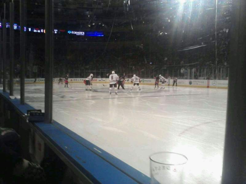 Seating view for Madison Square Garden Section rinkside VIP Row AA Seat 8