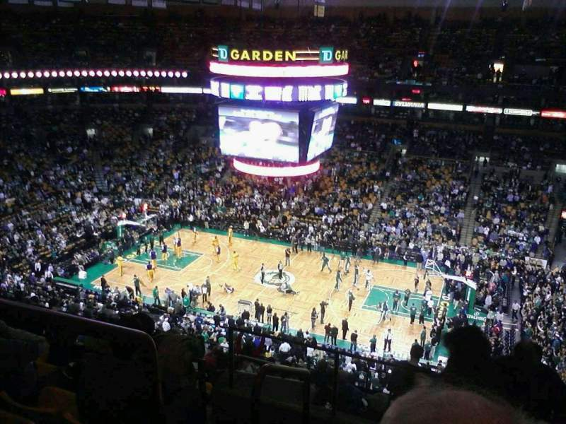 Seating view for TD Garden Section Bal 315 Row 15 Seat 18