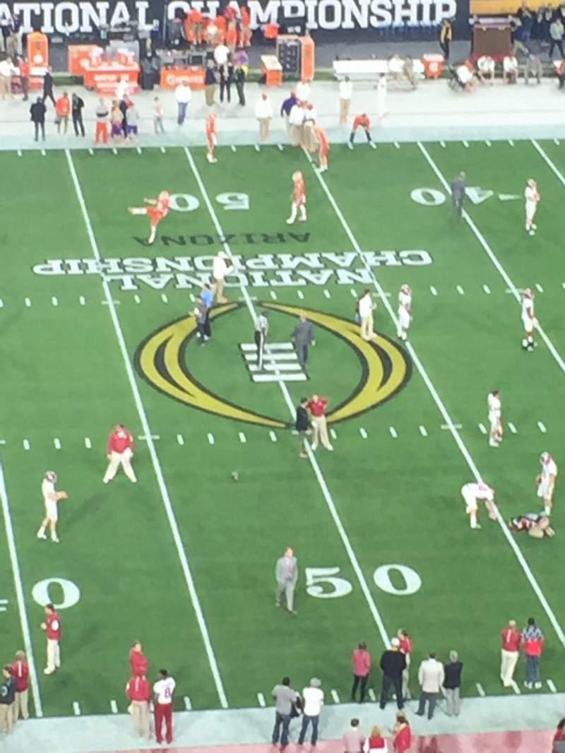 University of Phoenix Stadium, section: 445, row: 12, seat: 8