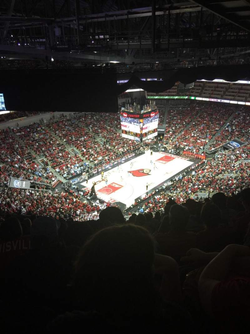 Seating view for KFC Yum! Center Section 312 Row W Seat 15