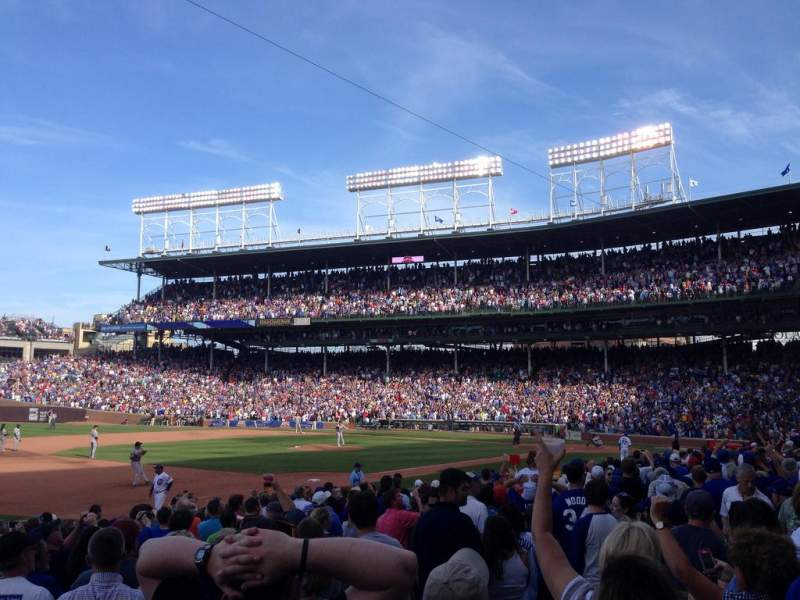Seating view for Wrigley Field Section 108 Row 3 Seat 8