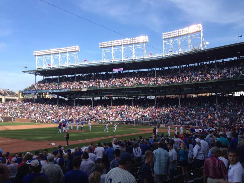 Seating view for Wrigley Field Section 109 Row 4 Seat 9