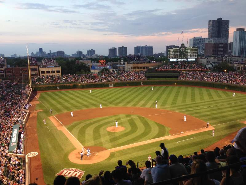 Seating view for Wrigley Field Section 524 Row 1 Seat 109