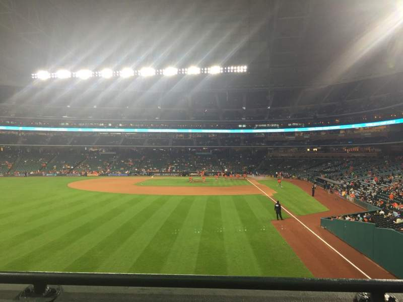 Seating view for Minute Maid Park Section 102 Row 2 Seat 11