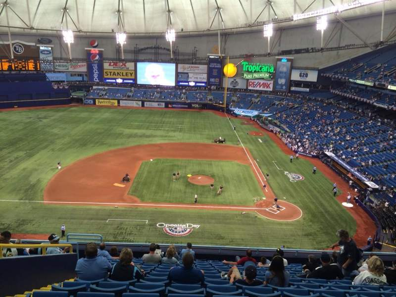 Tropicana Field, section: 309, row: P, seat: 7