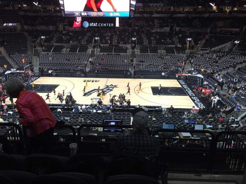 Seating view for AT&T Center Section 107 Row 32 Seat 1and3
