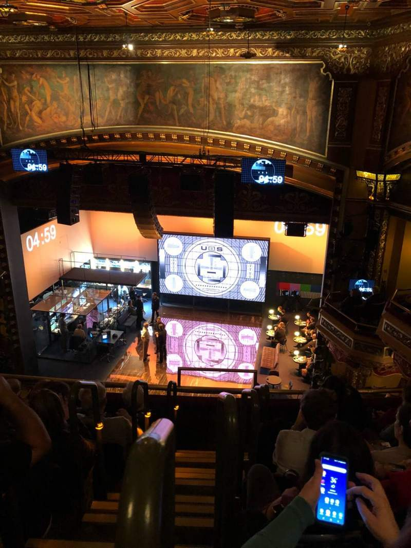 Seating view for Belasco Theatre Section Balcony R Row E Seat 2