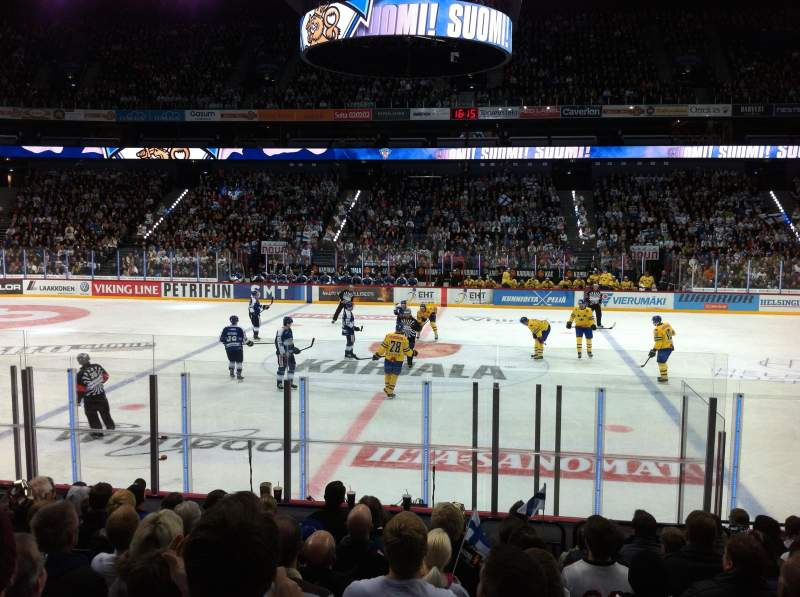 Seating view for Hartwall Arena Section 118 Row 11 Seat 109